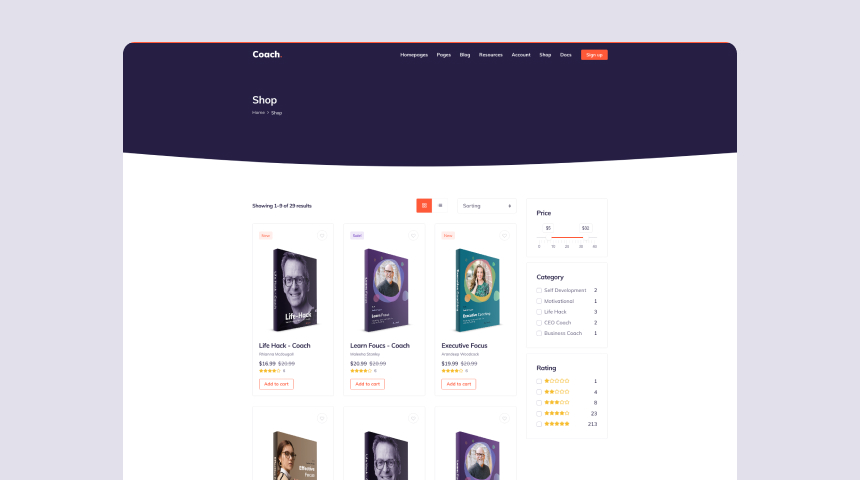 Shop E-Commerce Design Example